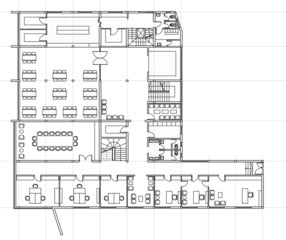 Plan of building