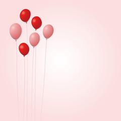 vector balloon card design