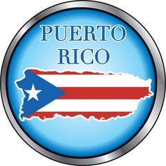 Puerto Rico Round Button