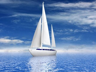 Sailing luxury yacht