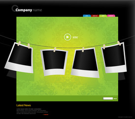 Website template with photos.