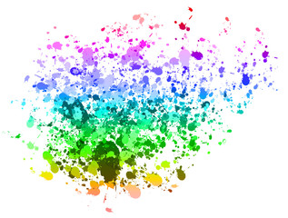 Colourful paint splat background