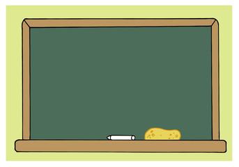 Blank Green Class Room Chalkboard