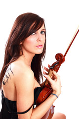 Beautiful girl with the violin