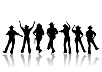 cowboy dance silhouette