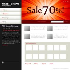 Website design template.