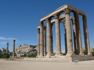 Temple de Zeus et acropole  d'Athènes