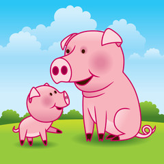 Mother Pig and Piglet - More animals in my gallery.