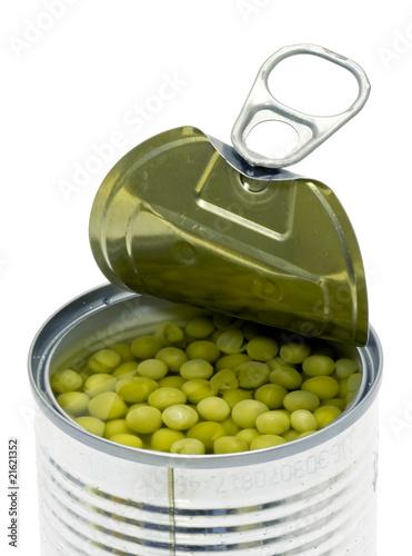 Boite de petits pois ouverte photo libre de droits sur la banque d 39 images image - Cuisiner petit pois en boite ...