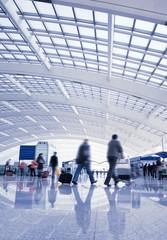 Photo sur Toile Aeroport passenger in the Beijing airport.