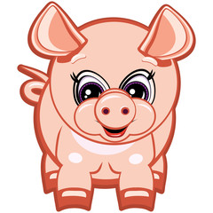 Little pig - one of the symbols of the horoscope