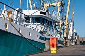 trawler in the harbor