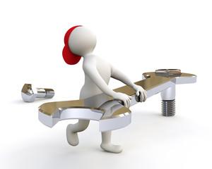3D Man assembling