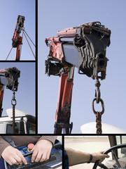 crane truck poster