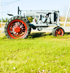 old tractor near Jonesboro, Maine, USA