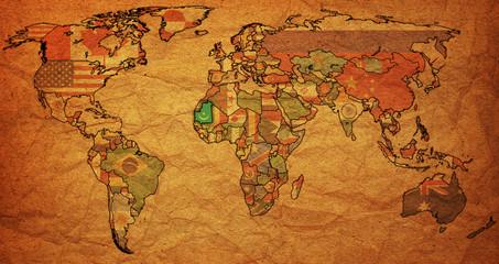 mauritania on world map