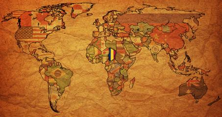 chad on world map