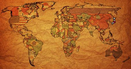 japan on world map