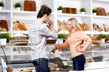 Dispute in shop