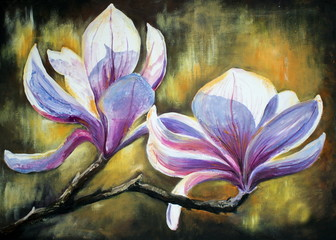 Magnolia flowers.My own artwork.
