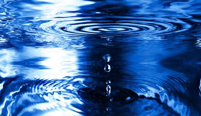 Splash of water in blue