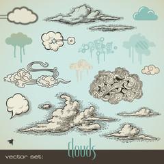 vector set: clouds