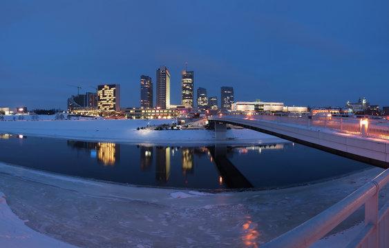 The Vilnius city - Lithuania.
