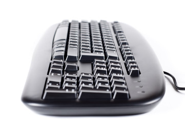 The keyboard isolated on a white background.