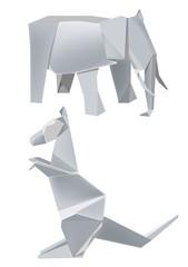 Paper_elephant_kangaroo