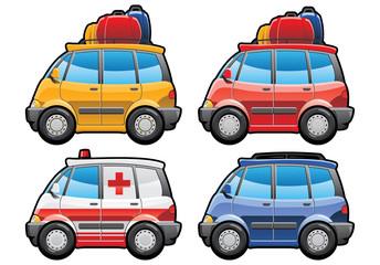 minivan, ambulance car