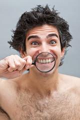 Dental exam of teeth