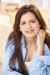 Young woman at home at morning