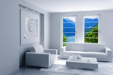 interior of light modern room
