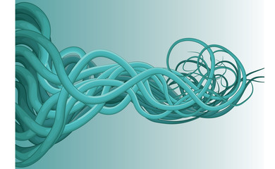 Abstract background of jumbled messy blue lines