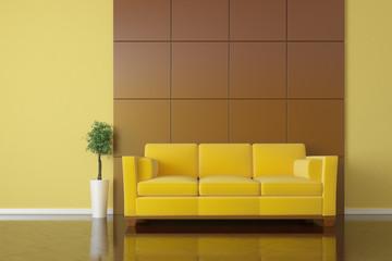 Modern sofa interior shot