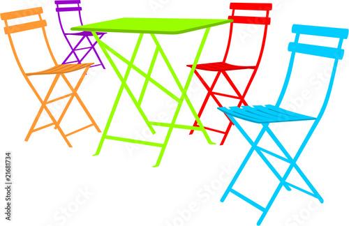 Table et chaises de bistrot fichier vectoriel libre de - Table et chaises bistrot ...