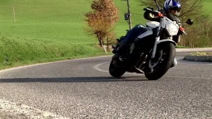 Fototapete - one moto biker