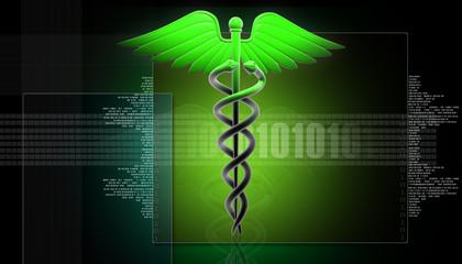 MEDICAL CADUCEUS SIGN