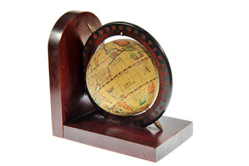 old style world globe