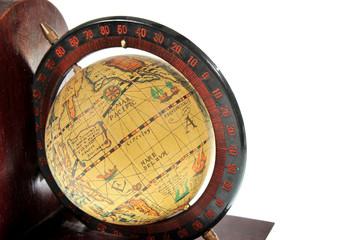 old style world globe