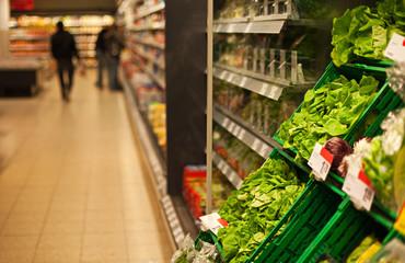 Supermarkt und Kunden