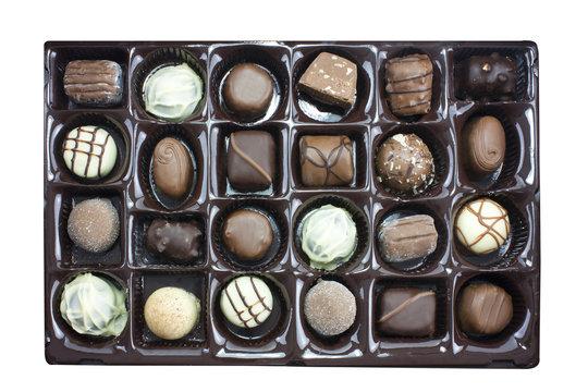 Chocolate truffles box