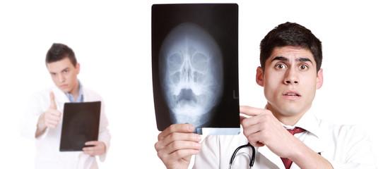 Caucasian male doctor