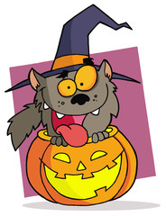 Cartoon character halloween werewolf