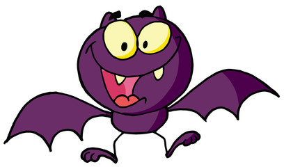 Cartoon character happy bat