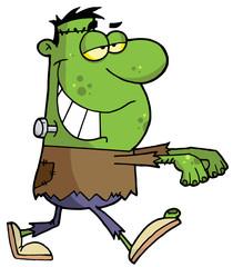 Cartoon character halloween frankenstein