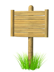 Fototapete - Wooden signboard