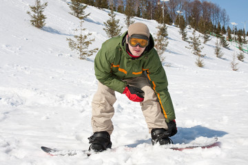 Young man at ski resort