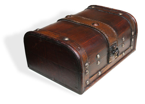 Old wooden container box