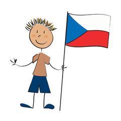 enfant drapeau république thèque